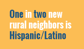 Estimated Net New Hispanic Rural/Mixed-Rural Residents by State*